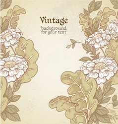 Vintage color background with wild meadow flowers vector