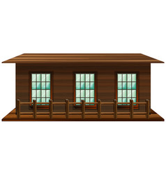 House made of wood vector