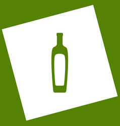 Olive oil bottle sign  white icon obtained vector