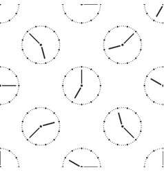 clock icon seamless pattern on white background vector image