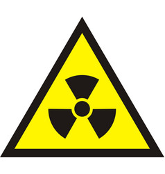 Nuclear radiation symbol - radioactive sign in vector