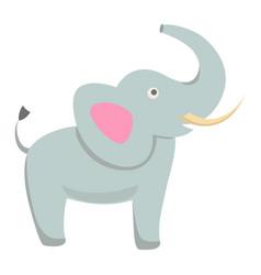 Cute elephant cartoon flat sticker or icon vector