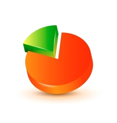 3d pie chart vector image vector image