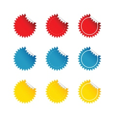 Sticker set color vector