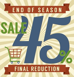 45 percent end of season sale vector