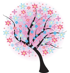 Blossoming tree vector