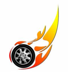 Tyre on fire vector