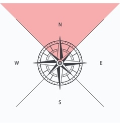 Compass rose isolated vector
