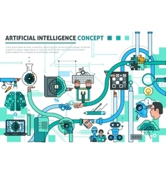 Artificial intelligence concept composition vector