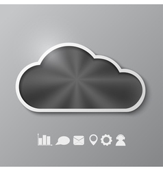 Abstract background with a metallic cloud vector image vector image