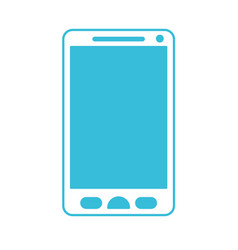 blue color silhouette of smartphone icon vector image