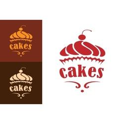 Cakes bakery emblem vector