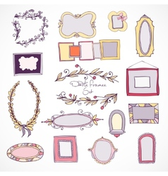 Collection of hand drawn doodle design elements vector image vector image