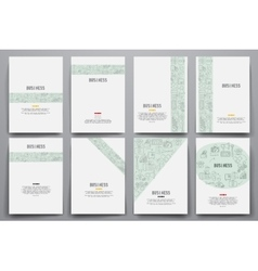 Corporate identity templates set with doodles vector image vector image