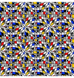 Design seamless colorful checked mosaic pattern vector