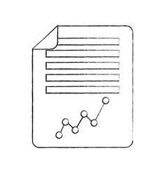 document paper business graph diagram vector image