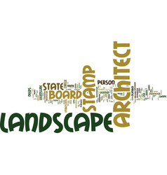 Landscape architect stamp text background word vector