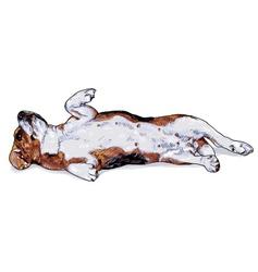 Laying down beagle vector