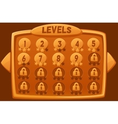 Level selection graphical user interface vector