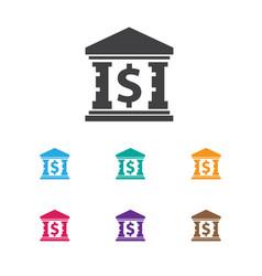 Of finance symbol on museum vector