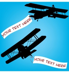 old planes vector image