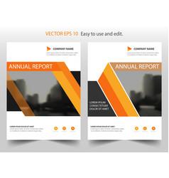 orange triangle annual report leaflet brochure vector image vector image