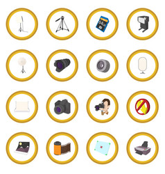 photography set icon circle vector image