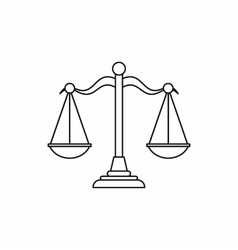Scales of justice icon outline style vector image vector image