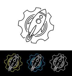 Space rocket shuttle logo logotype vector