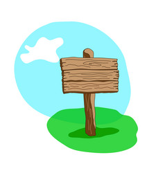 Square shape cartoon wooden signpost vector