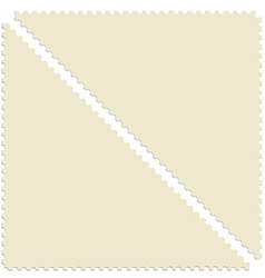 Triangular post stamp vector image