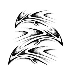 tribal tattoo sketch vector image