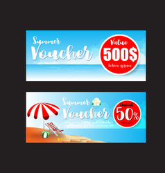 016 collection of summer sale promotion voucher vector