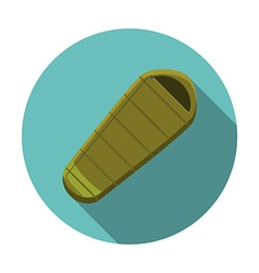 Flat design modern of sleeping bag icon camping vector