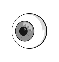 Eyes icon black monochrome style vector