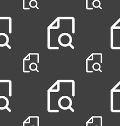 Search documents icon sign seamless pattern on a vector