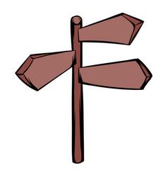 direction signs icon cartoon vector image