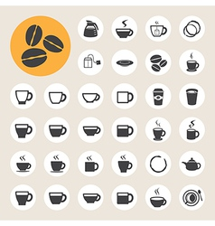 Coffee cup and Tea cup icon set vector image
