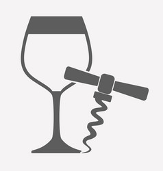 Wineglass icon image vector