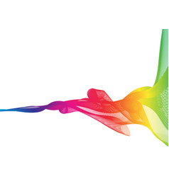 Rainbow ribbon abstract shapes with white vector