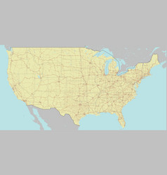 High detailed accurate exact united states of vector