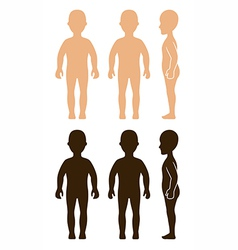 Standing girl view vector