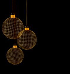 Christmas balls isolated on black vector