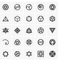 Sacred geometry icons vector