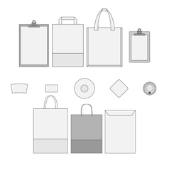 Set of corporate Templates vector image