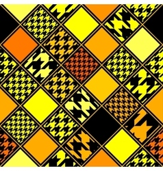 Yellow houndstooths pattern vector