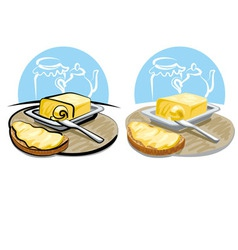 Butter and sandwich vector