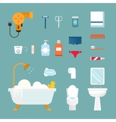 Hygiene icons set isolated on white vector