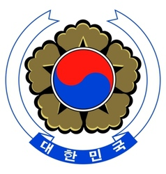 Coat of arms of south korea vector