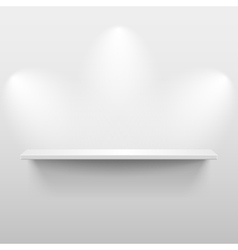 Shelf with shadow in empty white room vector